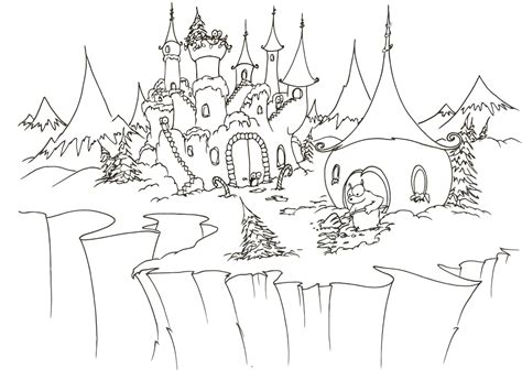 disney princess castle coloring pages to kids