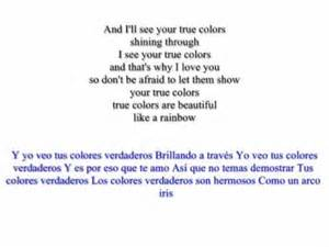 lyrics to colors cyndi lauper true colors lyrics and