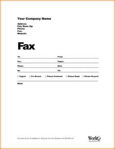 Template For Fax by 8 Template For Fax Cover Sheet Itinerary Template Sle