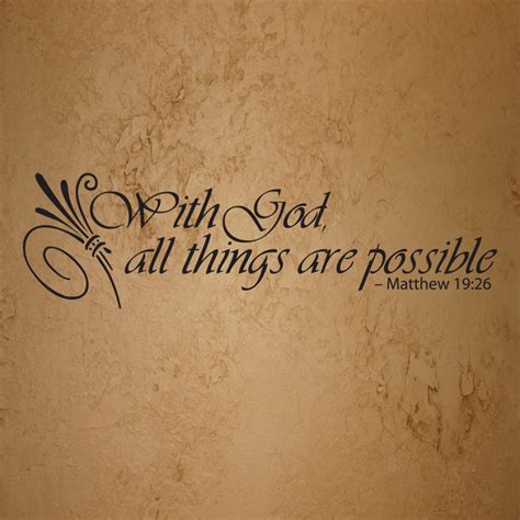 All Things With God All Things Are Possible Bible Quote Free