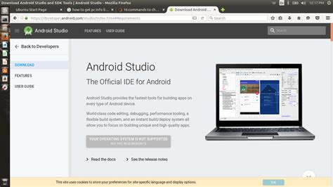 ubuntu install android studio new android studio ide not supported in linux ask ubuntu
