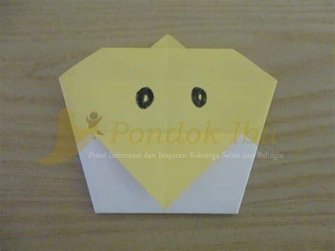 membuat wajah anak membuat origami wajah anak ayam