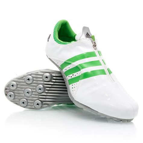 Adidas Tracking Green adidas demolisher last pair mens track and field shoes white green sportitude