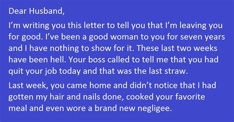 Best Divorce Letter Nails It Writes The Best Divorce Letter