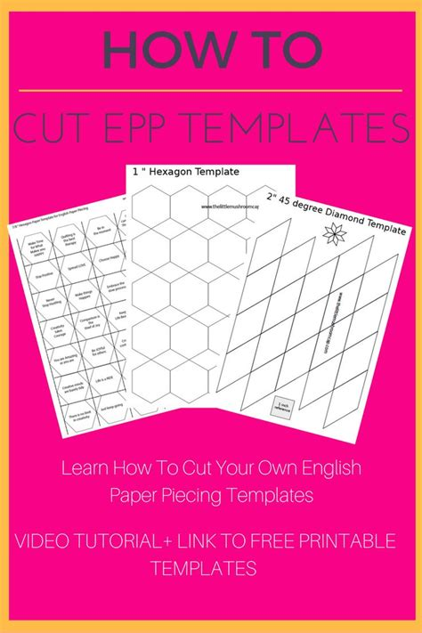 696 Best English Paper Piecing Quilt Love Images On Pinterest Quilt Patterns Hexagons And How To Use Quilting Templates