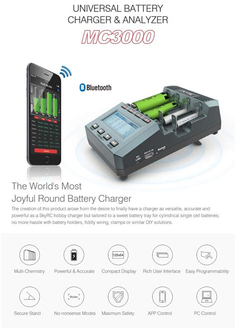 Nitecore Universal Battery Single Charger With Lcd Um20 2 Slot skyrc mc3000 smart bluetooth charger with app 106