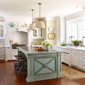 Kitchens With Different Colored Islands by Robin S Egg Blue Island White Cabinets Kitchen