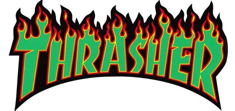 Kaos Thrasher Free Sticker 1 thrasher lg 10 quot sticker green text free shipping