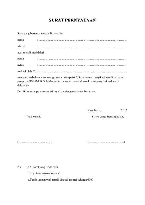 contoh surat pernyataan penghasilan contoh two