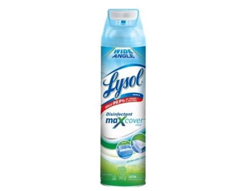 lysol max cover disinfectant spray  stock