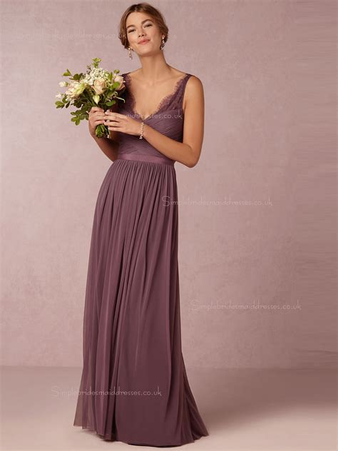 Bridesmaid Dress Sales Uk - shop sale glorious ruched chiffon v neck floor length