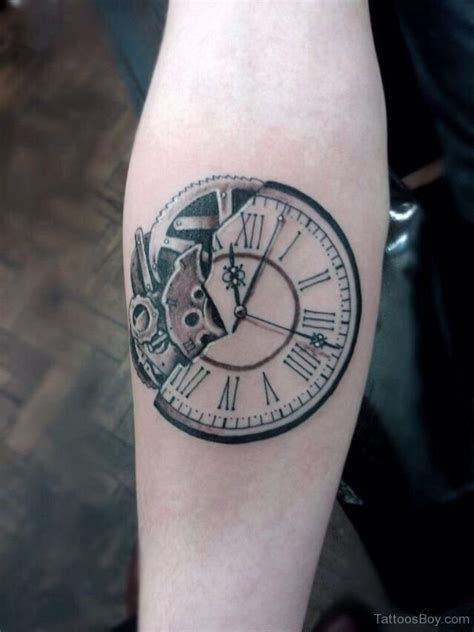 small clock tattoo 34 broken clock tattoos