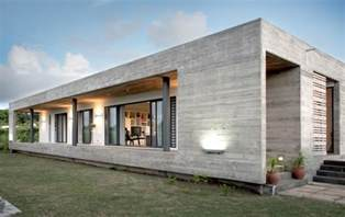 rectangular concrete house by rethink raw concrete home has everything inside built from