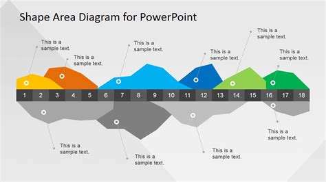diagram of area infographics data area chart for powerpoint slidemodel