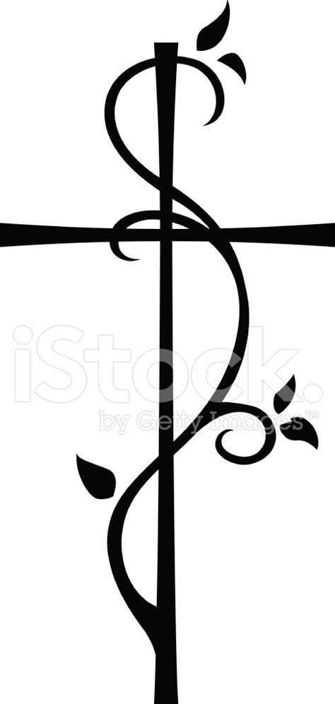 vine cross stock vector freeimages com