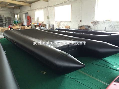 inflatable pontoon boat with motor 800cm length large inflatable rescue boat salvage pvc or