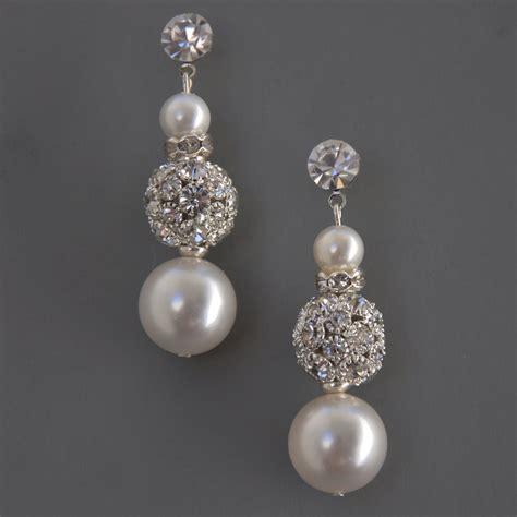 stella bridal jewelry earrings wedding rhinestone bead