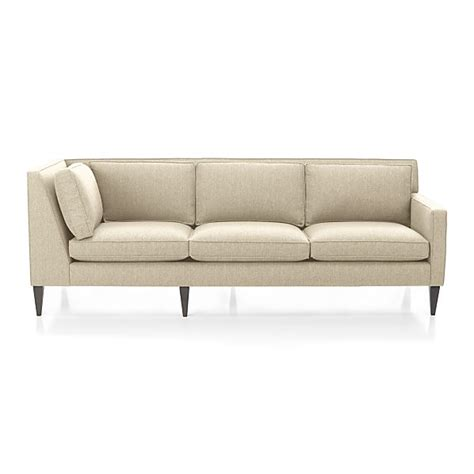 rochelle right arm corner sofa desert crate and barrel