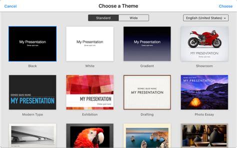 theme chooser keynote keynote icloud 版 创建演示文稿
