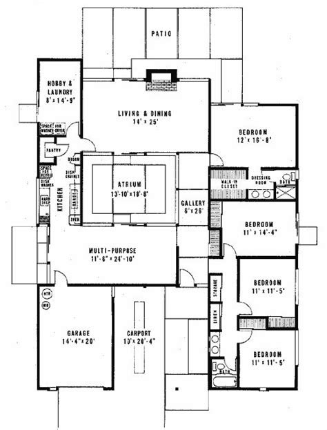 eichler atrium floor plan 67 best images about joseph eichler houses on pinterest