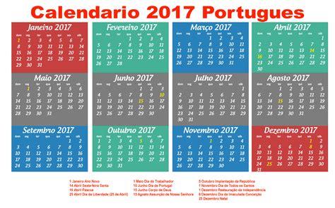 Calendario Portugal 2017 Calend 225 2017 Feriados Para Baixar E Imprimir Toda