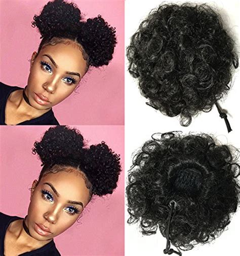 different styles for a afro puff drawstring ponytail beauty forever fashion curly ponytail twins buns clip in