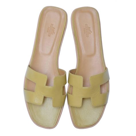 New High Heels Hermes Eth06 hermes h ch 232 vre gingembre sandals 40 1 2 new at 1stdibs