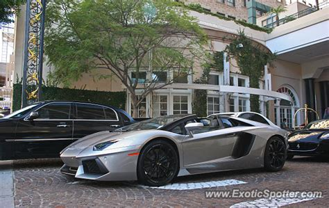 Lamborghini Of Beverly Lamborghini Aventador Spotted In Beverly California