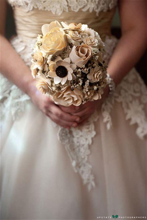 wooden flowers wedding bouquets wooden roses weddingbee