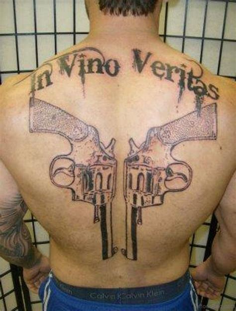 tattoo gun design 64 ultra modern gun tattoos for back