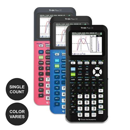 instruments ti 84 plus ce graphing calculator color