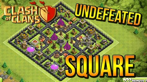 coc th8 base layout undefeated square town hall 8 farming base coc th8