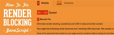 how to fix render how to fix render blocking javascript pagespeed w3tc