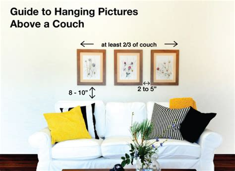 how high to hang pictures sofa how to hang pictures 10 easy tips utr d 233 co