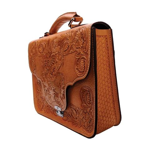 Leather Handcraft - mousai leather craft briefcase leder leathercraft