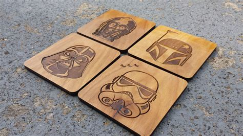 Personalized Handmade Gifts - wars coaster set