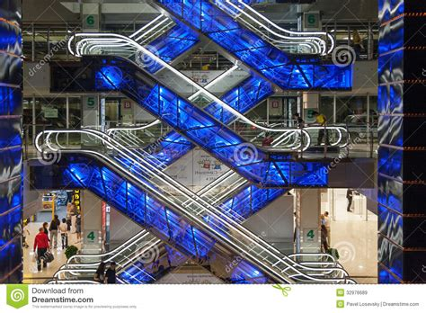 Floor Plan Of A Shopping Mall by Beautiful Glowing Escalators In Shopping Center European