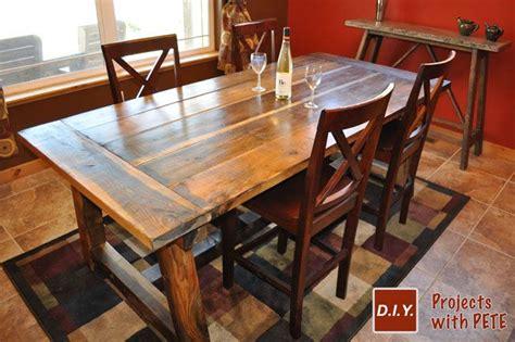 Diy Pete Farmhouse Table by Rustic Farm Table Diy Pete Rustic Crafts