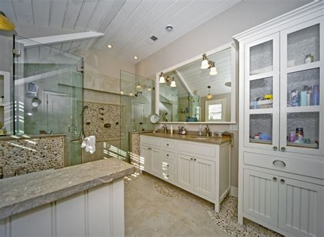 21 river rock bathroom designs decorating ideas design