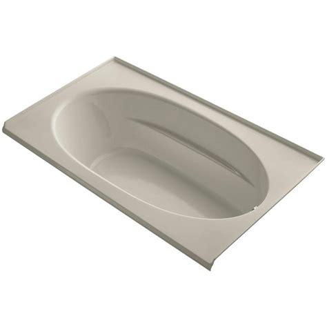 bathtub tile flange kohler windward 6 ft left hand drain with tile flange