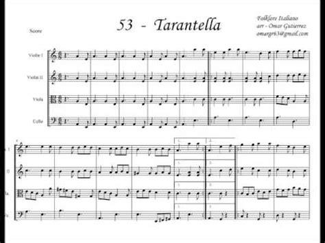 tarantella napoletana testo partitura tarantella cuarteto de cuerdas