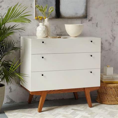 west elm modern white dresser modern 3 drawer dresser west elm