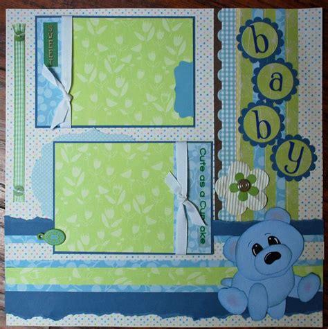 scrapbook layout baby boy baby boy cute as a cupcake sweet baby premade scrapbook