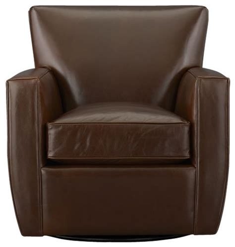 Streeter Leather Swivel Glider Contemporary Rocking Leather Swivel Glider Chair