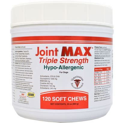 Joint Max Isi 30 joint max 174 strength hypo allergenic 120 soft chews