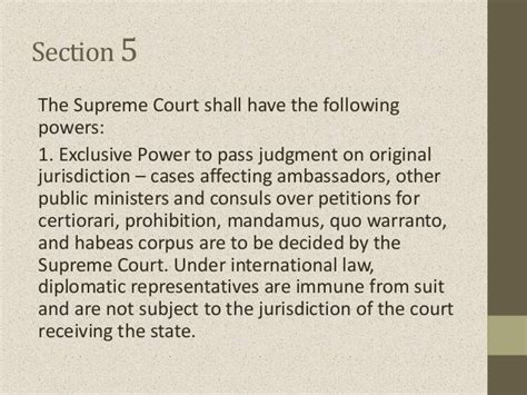 article 8 section 5 article viii judicial department sections 1 to 8
