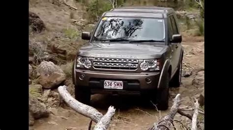 land rover discovery 4 road rock crawling with flat