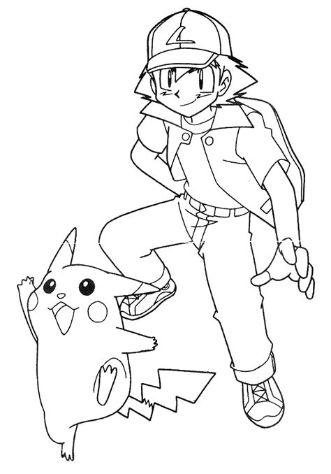 Misty And Ash Coloring Pages Coloring Pages Ash Coloring Pages