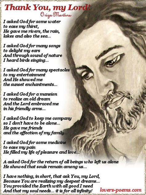 Thank You Letter Jesus prayers thank you my lord christian poem by oriza