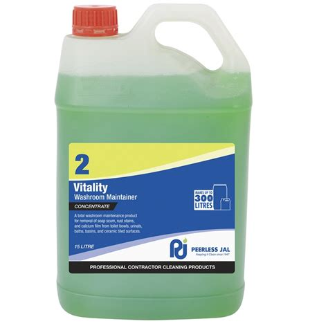 peerless 5l vitality commercial bathroom cleaner